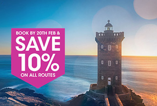 10% off Condor Ferries routes when you book early